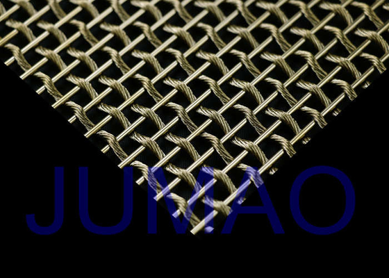 Interior Wire Wire Mesh Datar / Terang, Keamanan Wire Mesh Stainless Steel