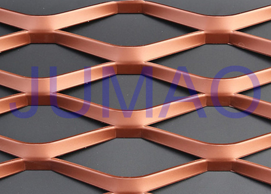 PVDF Coated Stainless Expanded Mesh, Interior Copper Expanded Metal Mesh